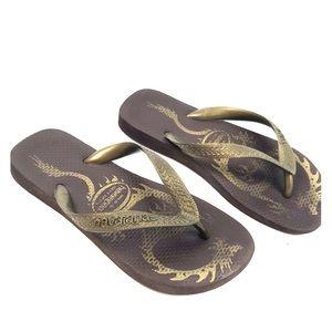 Havaianas 4/5 Slip On Flip Flops Thongs Shoes